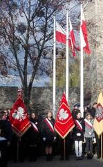 Przedstawiciele naszej szkoły na uroczystościach 99. rocznicy odzyskania niepodległości przez Polskę.jpeg